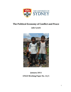 The Political Economy of Conflict and Peace