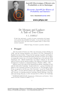 De Morgan and Laplace: A Tale of Two Cities