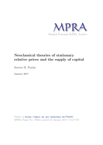 Neoclassical theories of stationary relative prices and the supply of