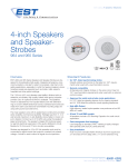 Data Sheet 85001-0283 -- 4-inch Ceiling Speakers and Speaker