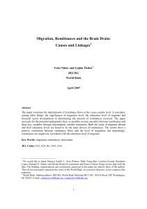 Migration, remittances and the brain drain