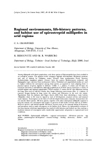 Regional environments, lifehistory patterns, and