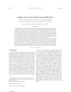 Radiative and Convective Driving of Tropical High Clouds