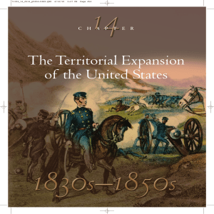 The Territorial Expansion of the United States