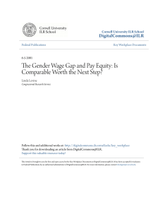 The Gender Wage Gap and Pay Equity: Is Comparable Worth the