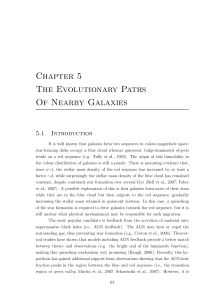 Chapter 5 The Evolutionary Paths Of Nearby Galaxies