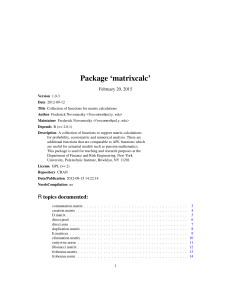 Package `matrixcalc`