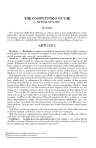 the constitution of the united states article i.