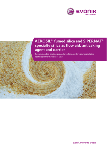 Technical Information 1213: Specialty silica as flow aid, anticaking