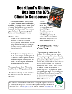Heartland`s Claims Against the 97% Climate Consensus