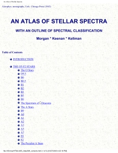 An Atlas of Stellar Spectra