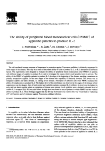 (PBMC) of syphilitic patients to produce IL-2