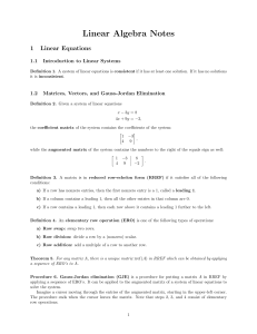 Linear Algebra Notes - An error has occurred.