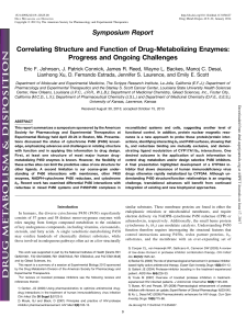 Symposium Report Correlating Structure and Function of Drug