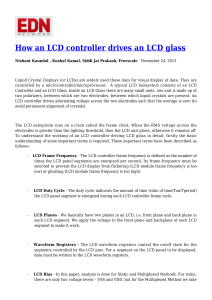 How an LCD controller drives an LCD glass