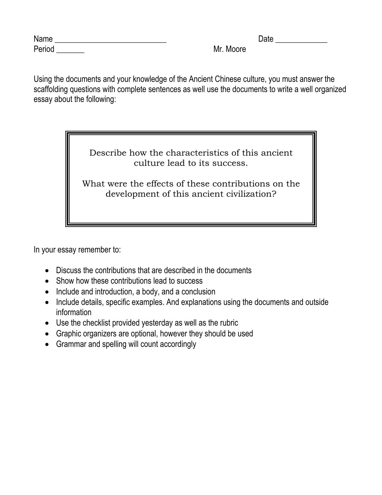 easy classification essay topics