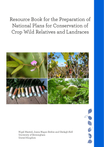 Resource Book for the Preparation of National Plans for