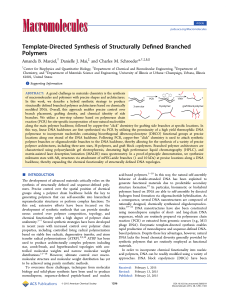 Template-Directed Synthesis of Structurally Defined Branched