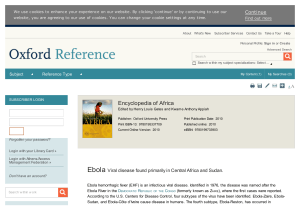 Ebola - Oxford Reference