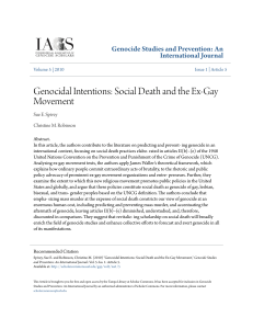 Genocidal Intentions: Social Death and the Ex