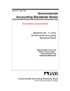 Governmental Accounting Standards Series