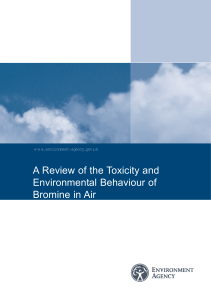 A Review of the Toxicity and Environmental Behaviour of Bromine in