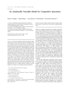 An Analytically Tractable Model for Competitive Speciation