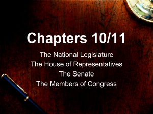 The Legislative Branch Notes