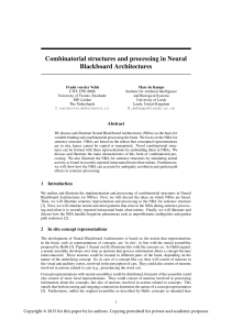 Combinatorial structures and processing in Neural Blackboard
