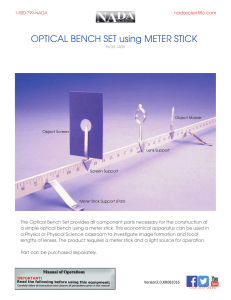 OPTICAL BENCH SET using METER STICK