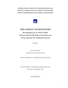 The Conduct of Hostilities: revisiting the LOAC