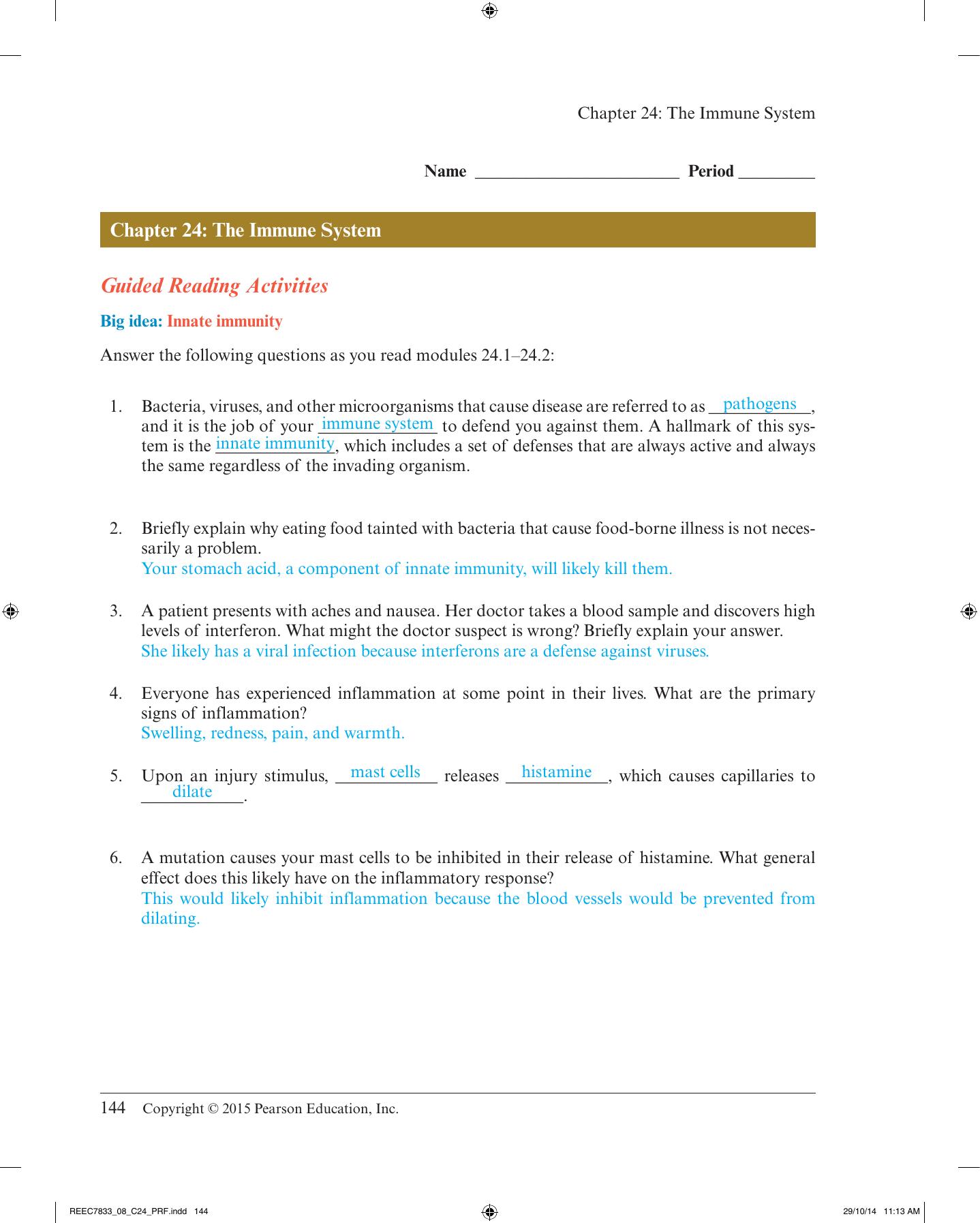 Answer Key Chapter 24 Scarsdale Public Schools