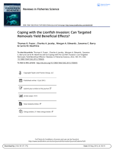 Coping with the Lionfish Invasion: Can Targeted Removals Yield