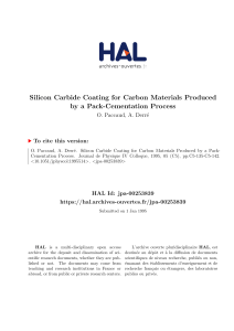 Silicon Carbide Coating for Carbon Materials Produced by a