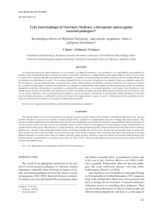 Lytic bacteriophages in Veterinary Medicine: a therapeutic option