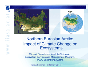 Northern Eurasian Arctic: Impact of Climate Change on Ecosystems