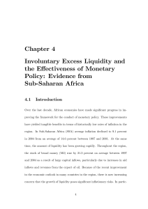 Chapter 4 Involuntary Excess Liquidity and the Effectiveness of