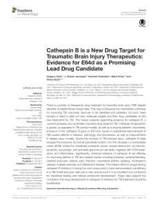 Cathepsin B is a New Drug Target for Traumatic Brain Injury