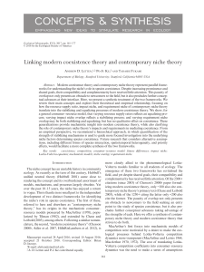Linking modern coexistence theory and contemporary niche theory