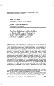 Coalition-Building and the Politics of Electoral Capture During the