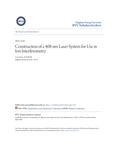 Construction of a 408 nm Laser System for Use in Ion Interferometry