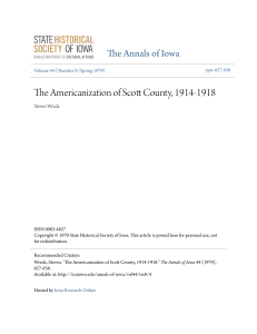 The Americanization of Scott County, 1914-1918