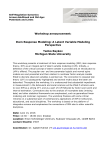 Workshop announcement: Item Response Modeling: A Latent