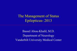 The Treatment of Generalized Convulsive Status Epilepticus