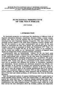 Aleš Svoboda: Functional perspective of the noun phrase