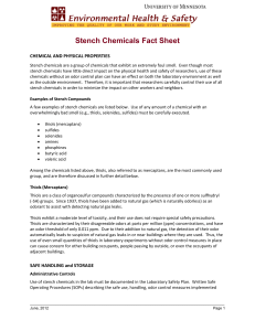 Stench Chemicals Fact Sheet