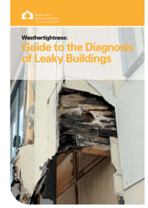 Weathertightness: Guide to the Diagnosis of Leaky Buildings