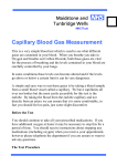 Capillary Blood Gas Measurement - Maidstone and Tunbridge Wells