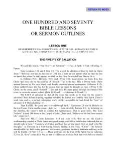 one hundred and seventy bible lessons or sermon outlines