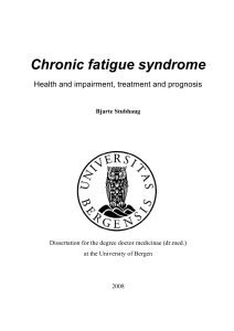 Chronic fatigue syndrome - BORA